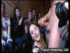 Stripper cums on amateur