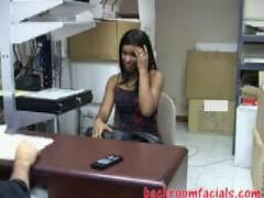 black girl sucking and fucking her boss