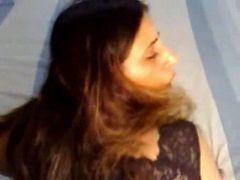 Indian GF, BJ to anal & cum swallowing