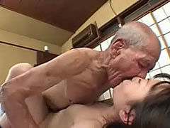 An old pervert fuck a little and poor japanese student