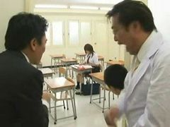 Japanese schoolgirl forced in the classroom