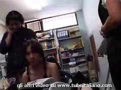 Hot italian mom  and daughter amateur orgy - Part 1