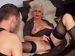 Drunk old slut abused by a pervert young cock!