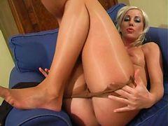 sierra removing pantyhose