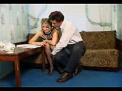 Russian Teen Nymph In Stockings And Older Man ( amate...