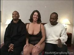 Milf Daytona gets gangbanged - Real MILF Gang Bang