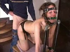 slave  bounded gagged and fucked in the ass