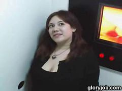 Chubby Gloryhole Blowjob