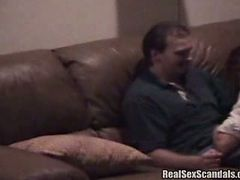 Hubby sees his wife making out with her male friend