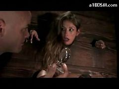 Busty Hogtied Girl Getting Her Pussy Stimulated With ...