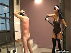 Miss Dolce Whips Slave