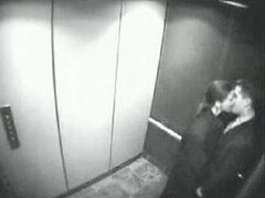 Security Cam caught couple fucking in the elevator