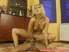 Hot blond teen rough banged by german