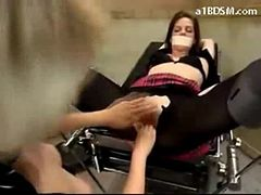 Girl Getting Tied To Chair Fingered Whipped By Nurse ...