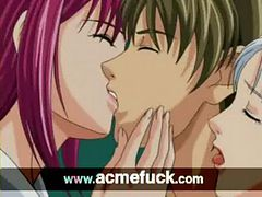 Anime babe takes a lick