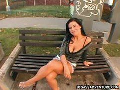 Hot milf brunette throatfucking and banged hard on he...