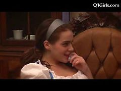 Slim Young Girl In Devil Outfit Licking Fingering Oth...