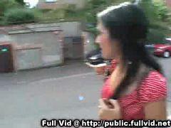 Brunette Public Blowjob
