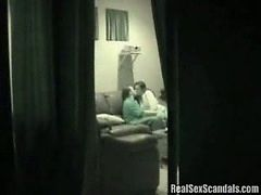 Husband spies on his cute cheating wife and caught her