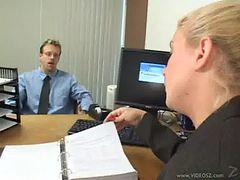 Slutty Blonde Heidi Mayne Office Fuck