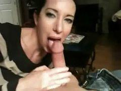 Cute Girl Milks His Cock Dry