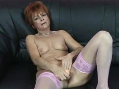 Dirty granny gets hard fucking