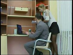 Russian office sex - russian ass