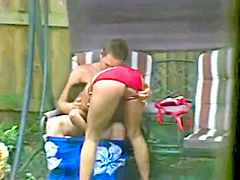 My horny sister gets fucked in the backyard