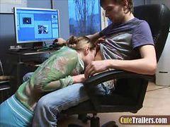 Skinny Russian teen having cock in tight ass