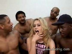 Black Brothers Get Together To Share White Whore Bryn...