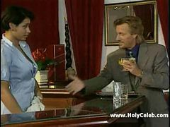 French Guy Fucks busty Barmaid in retro