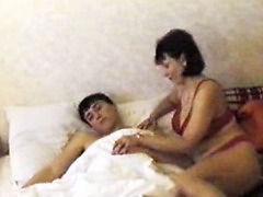 Mom in heat seduces and fucks this boy