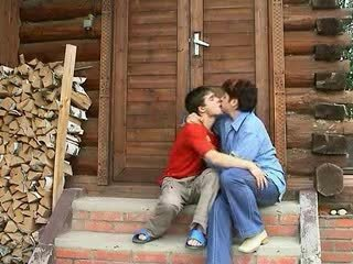 Amateur russian mature mother and boy