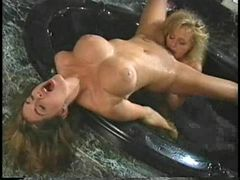 Sexy lesbians in the jacuzzi