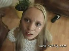European Teen Is Starved For Cum And Finds A Guy To S...
