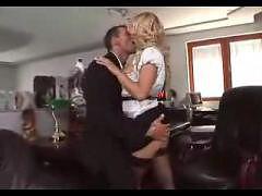 Blonde Secretary Rides In Stockings SM65