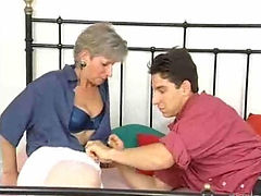 Horny mom gets intense pounding by young guy