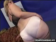 BBW Creampied By Two Black Cocks