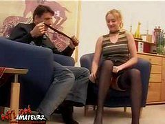 Peggy gets fucked in nylons