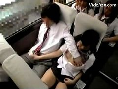 Schoolgirl Jerking Off Guys Cock On The Schools Bus T...