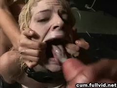 Cum Covered Blonde