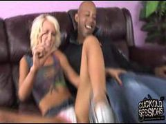 Alexia Skye goes black in front of her cuckold