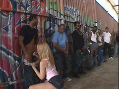 Nasty Annette Schwarz interracial gang bang