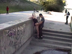 Hardcore Public fucked hot blonde slut
