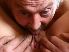 Lucky Old Man Fucks Redhead Hard