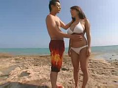 JAPANESE GIRL WITH HUGE BOOBS FUCKED ON BEACH ( amate...