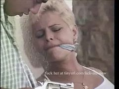 Two guys gang fuck and tie a Spanish girl